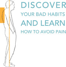 Illustration about discovering bad habits and learning to avoid pain